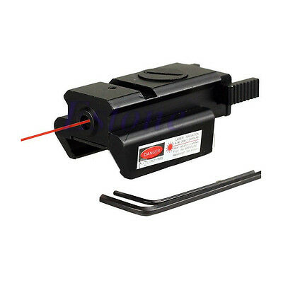 Tactical Low Profile Red Dot Laser Sight Picatinny Weaver Rail For Pistol GLK