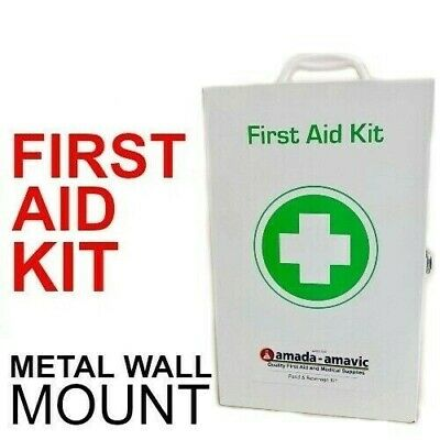 FIRST AID KIT filled Metal WallMount NEW NATIONAL WORK CODE OF PRACTICE
