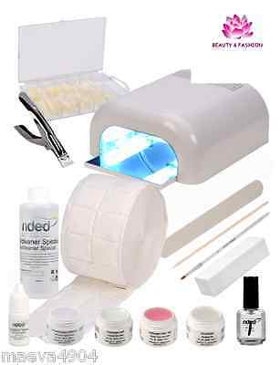 Kit Démarrage Gel Uv Lampe Uv 36 W Ce French Manucure Faux Ongles Nail Art  Neuf
