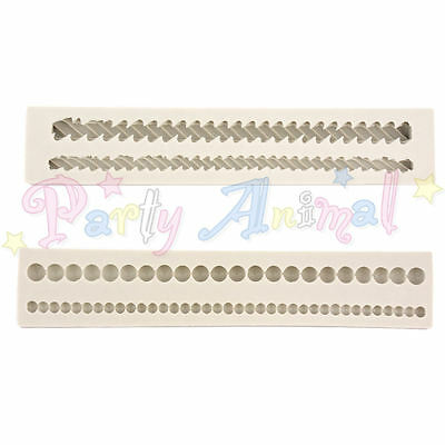 Alphabet Moulds - High Quality Sugarcraft Silicone Cake Border & Rope moulds