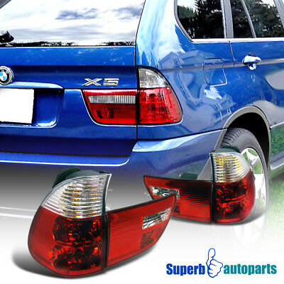 2000-2005 BMW X5 E53 Euro Tail Lights Brake Lamp Red/ Clear
