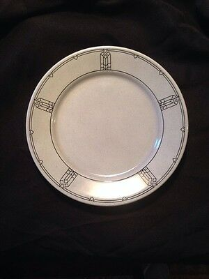 Buffalo Restaurant Ware Gray With Art Deco Pattern