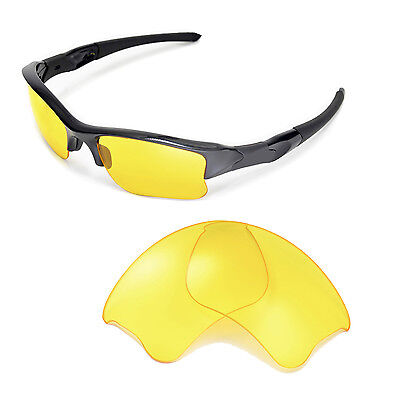 New Walleva Yellow Replacement Lenses For Oakley Flak Jacket XLJ Sunglasses
