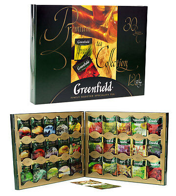 Greenfield Premium Tee Collection Geschenkidee Teebox 120 Beutel Portofrei