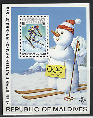Maldives Olimpic winter games Stamps