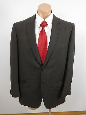 Vtg 1968 Jack Frost Woolen Wear Dark Olive Wool Suit Jacket Sport Coat Size 44R
