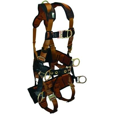 "Falltech Tower Climber Body Harness Medium Belt Size 33"" to 41"" w/Quick Connects"