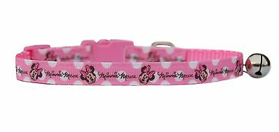 handmade Pink Minnie Mouse  safety kitten cat collar 3 sizes