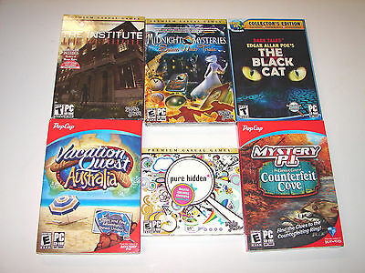 lot of HIDDEN OBJECT SEEK & FIND (PC GAMES)  *NEW*  LOW PRICE +FREE SHIPPING