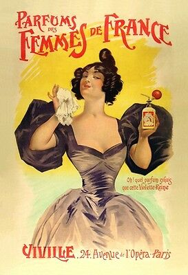 Antique Victorian French Perfumes Advertisement V.2  A3 Poster Reprint
