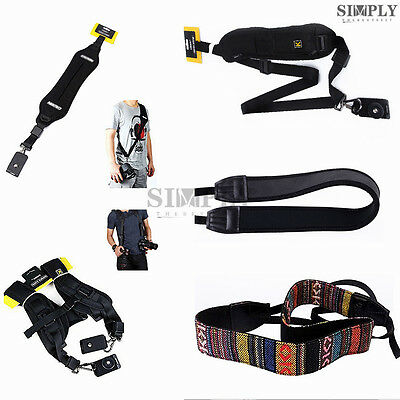 Vintage /Neoprene / Quick Release Single Double Dual Shoulder Camera Strap Belt