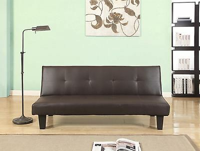 Birlea Franklin Sofa Bed Settee Brown Faux Leather