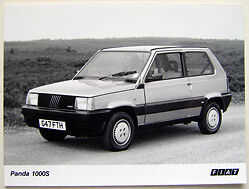 Fiat Panda 1000S circa 1989-90 Original black & white Press Photograph
