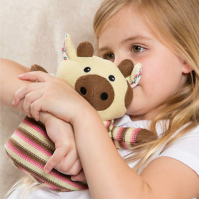Intelex Heatable Knitted Warmer Cow - Microwave Soft Toy Microwavable Wheat Bag
