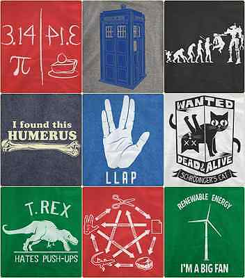 COOL NERDY FUNNY Smart Awesome Evolution Spock Doctor Who Mens