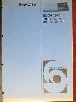 B & O Beocord 8000 Service Manual Original Factory Issue The Real Thing