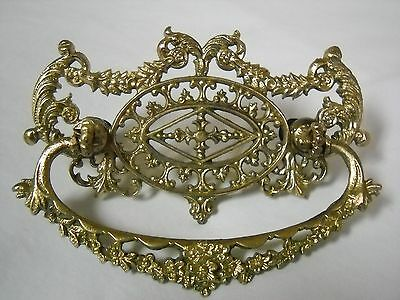 Fantastic Ornate Cast Brass Antique Drawer Pull.