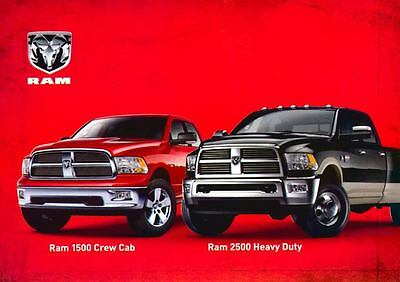 2010 Dodge Ram 1500 Crew Crab 2500 HeavyDuty Truck Large Factory Postcard my1761