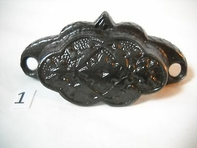 Antique Eastlake Style Cast Iron Bin Drawer Pull