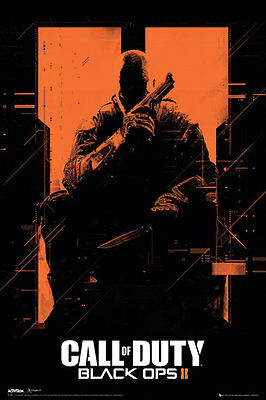 Call of Duty Black Ops 2 Orange POSTER 60x90cm NEW soldier holding pistol knife