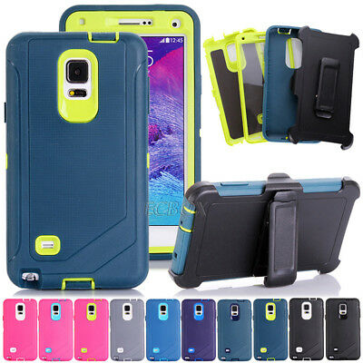 Hybrid Military Rugged Case Shell + Belt Clip Holster For Samsung Galaxy Series