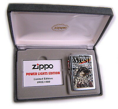 Zippo Beautiful LUXURY WEST EAGLE Numbered Limited Edition BOX SET SUPER RARE !