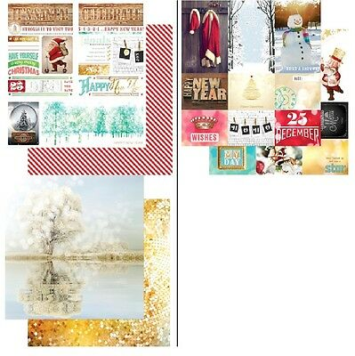 "Webster's Pages  Xmas/ New Year 1x Scrappapier ""All That Glitters"" 30,5x30,5cm"