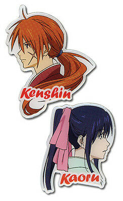 Rurouni Kenshin Kenshin and Kaoru 2 Pin set Anime Licensed NEW