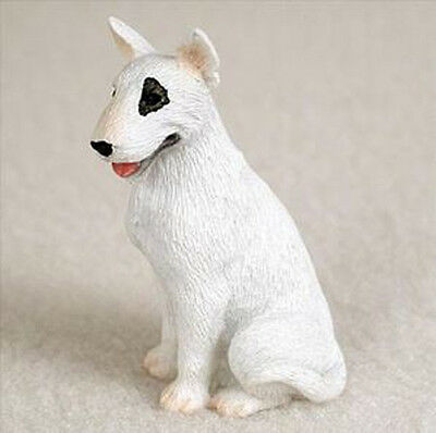 BULL TERRIER (WHITE) TINY ONES DOG Figurine Statue Pet Lovers Gift Resin