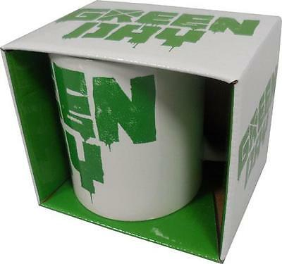 Green Day: Spray Logo Mug Ceramic Coffee / Tea Mug - New & Official In Box