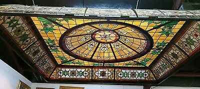 Stained Glass Ceiling Dome Light 10 ft x 10 ft  Hang by Chains or Build in