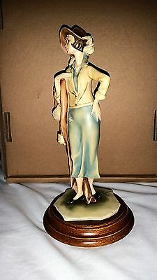 Capodimonte Hand Painted 1930'S lady in day dress & large hat - Vittorio Tessaro