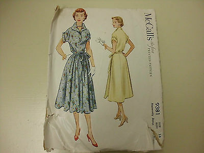 Vintage 1953 McCall's Sewing Pattern for Ladies' Maternity Dress size 16