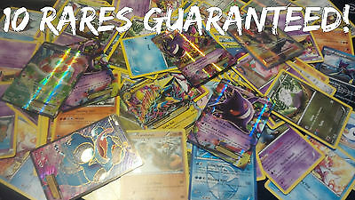 Pokemon Cards 100 Lot  - 10 Rares and Holographics! Guranteed EX or Holo Rare!