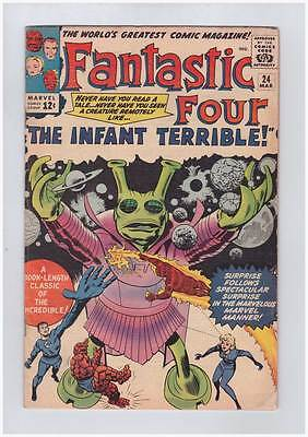Fantastic Four # 24  The Infant Terrible ! grade 5.0 scarce hot book !!