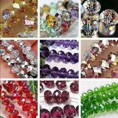 Wholesale New Multicolor Swarovski Crystal Loose Beads 6x8MM 70PCS/4x6MM 100PCS