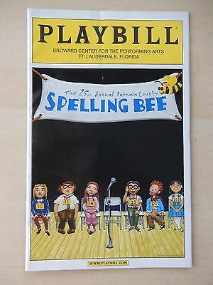 March 2007 Playbill - Spelling Bee, Broward Center For The Performing Arts