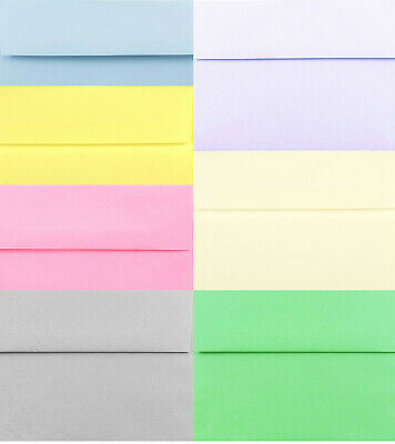 Pastel Envelopes A1 A2 A6 A7 for Invitations Pink Blue Gray Ivory Yellow Green