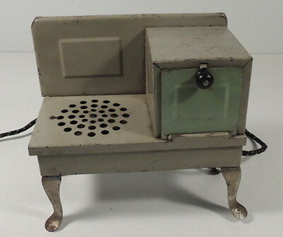 Metal Ware Corp Electric Toy Stove Green Vintage 1930's Kitchen Play Antique USA