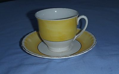 GRINDLEY ENGLAND  Beautiful Yellow/Cream Cup/Saucer -CREAMPETAL