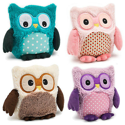 Hooty Microwave Heatable Toy Cuddly Soft Kids Teddy  Heated Microwavable Animals