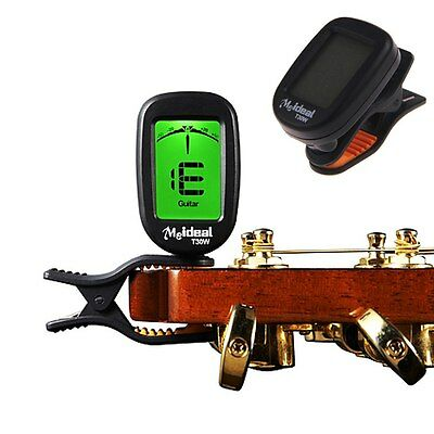 Electronic Digital Guitar Tunner LCD Automatic Clip-on Chromatic Bass Violin