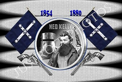 NED KELLY  METAL  TIN SIGN A4 30X20cm
