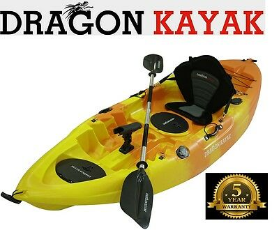 New Single Fishing Kayak Luxury Seat Package Rod Holder paddle brand new kayaks