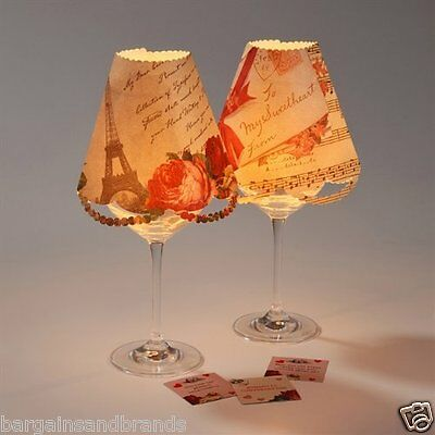 Talking Tables Love Talk Wine Glass Lamp Shades and Table Trivia
