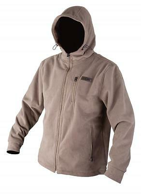 Fox NEW Chunk Fleece Wind Shield Hooded Fishing Jacket Brown *All Sizes*