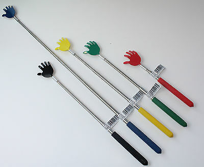 Back Scratcher Long Extendable Telescopic Massager Metal Portable Comfy Grip NEW