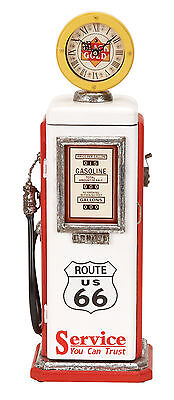 """21""""  Route 66 Black Gold Service Station Antique Replica Gas Pump with Clock"""