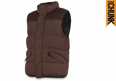 Fox NEW Chunk Quilted Bodywarmer Brown Carp Fishing Clothing *All Sizes*