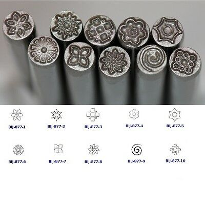 KENT 5.0mm Floral Patterns Precision Design Metal Punch Stamps Sold Individually
